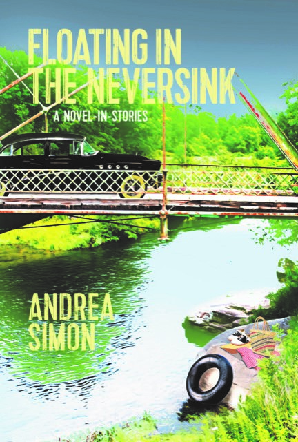 Book Reviews, Floating In the Neversink, book cover by Andrea Simon A novel in stories